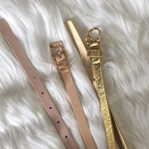 Charlotte Russe Accessories - Lot of 2 Charlotte Russe skinny waist belts